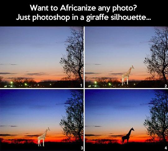 Africanizing photos…