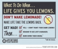 The right thing to do when life gives you lemons…