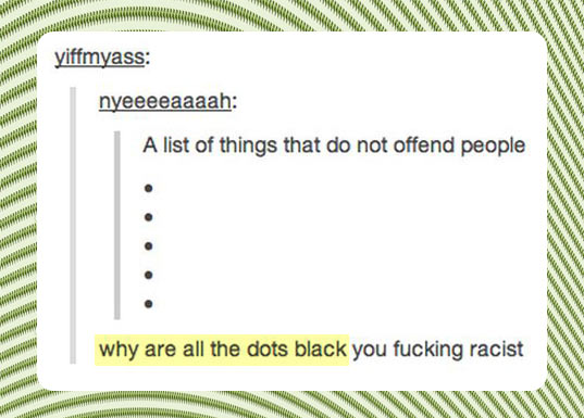 Things that don't offend people…