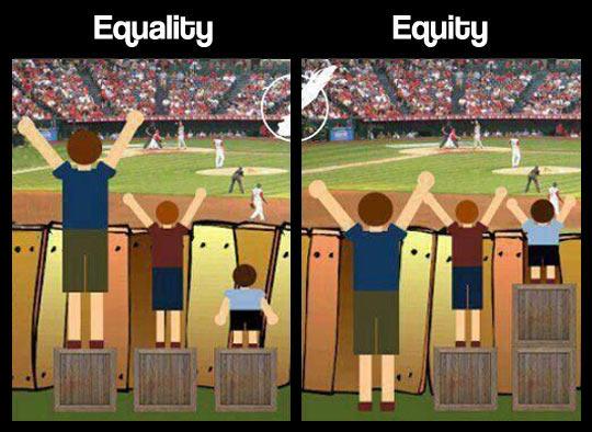 Equality vs. Equity…