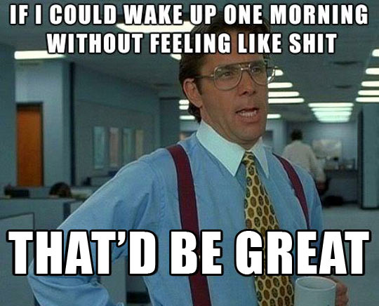 It doesn't matter how many hours I slept…