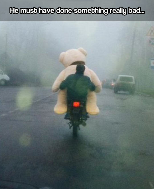 funny-motorcycle-riding-giant-Teddy-bear