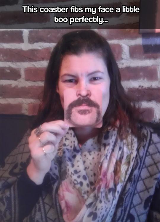 funny-mustache-coaster-face-woman
