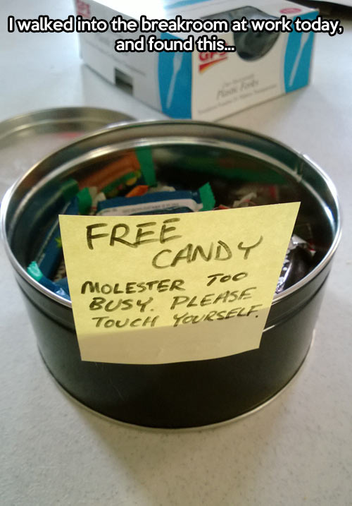 Free candy…