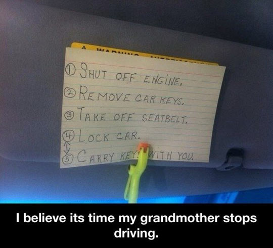Time to stop driving…