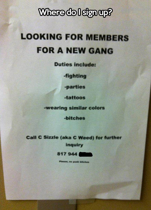 A new gang is being formed…