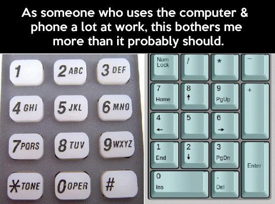 Numpad vs  dial pad…