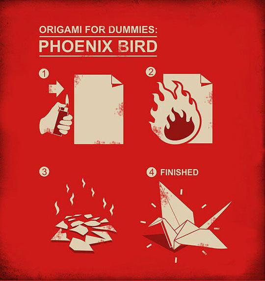 funny-origami-guide-phoenix-dummies