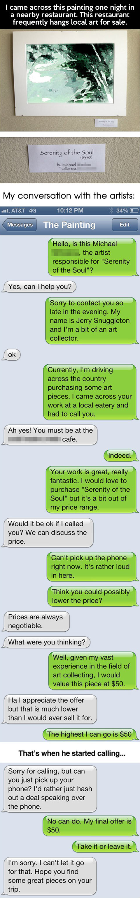 Why posting your phone number in a public place is a bad idea...