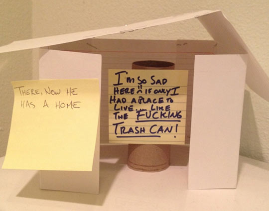 funny-paper-roll-empty-home-sad