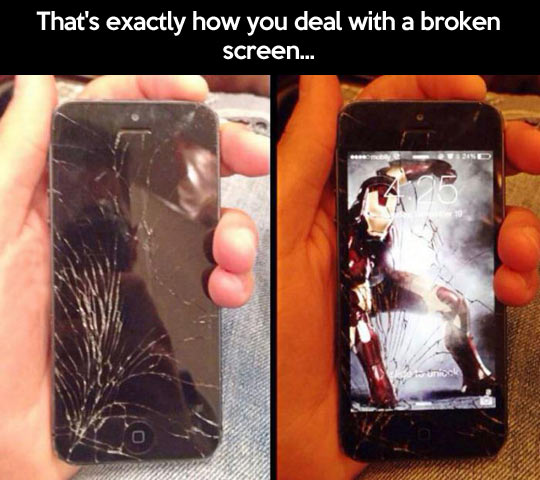 How to deal with a broken screen…