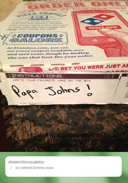 Write your favorite joke on the box…