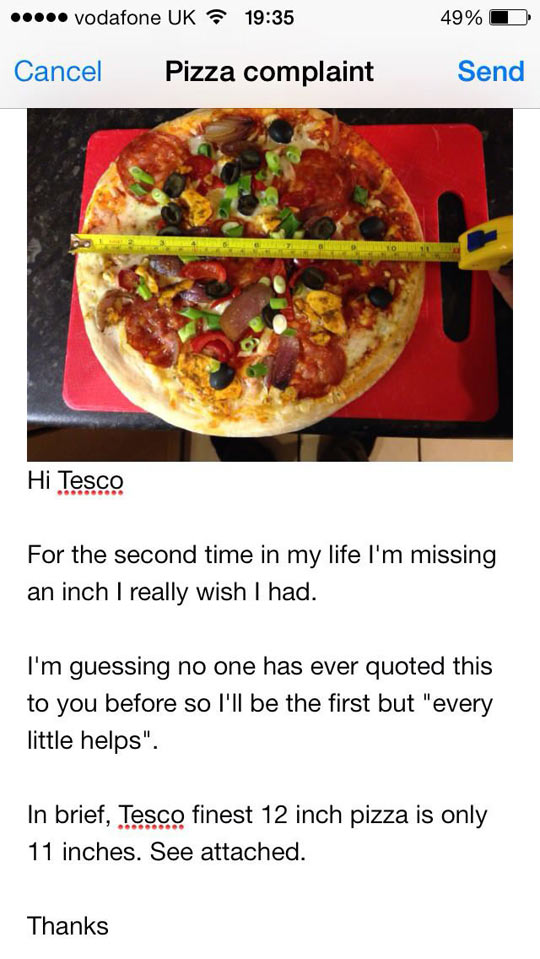 Pizza problems…