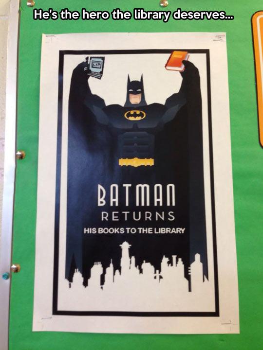 Batman is a reader…