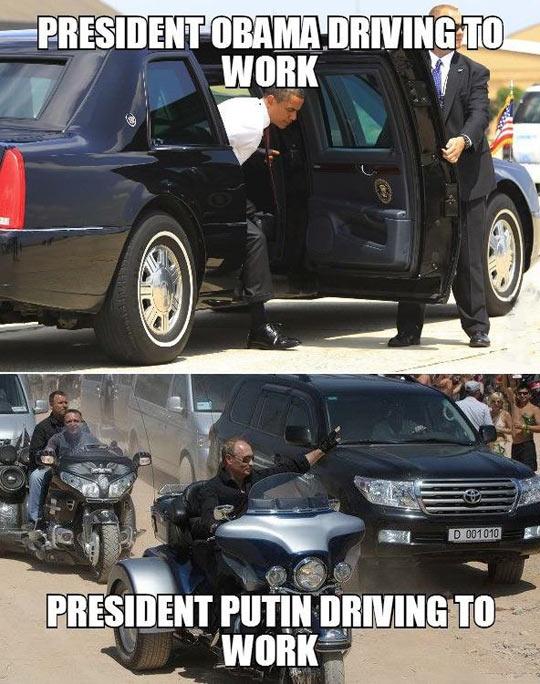 funny-president-Putin-Obama-car-bike