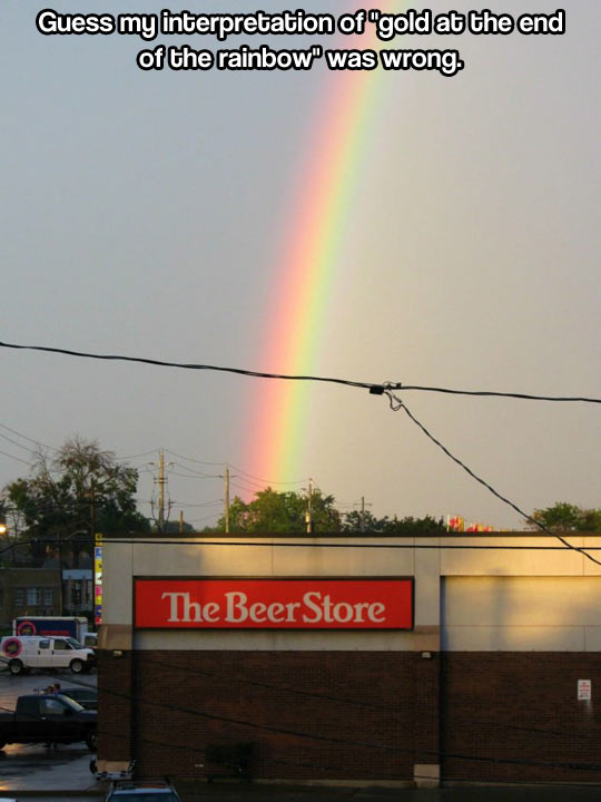 The real gold at the end of the rainbow…