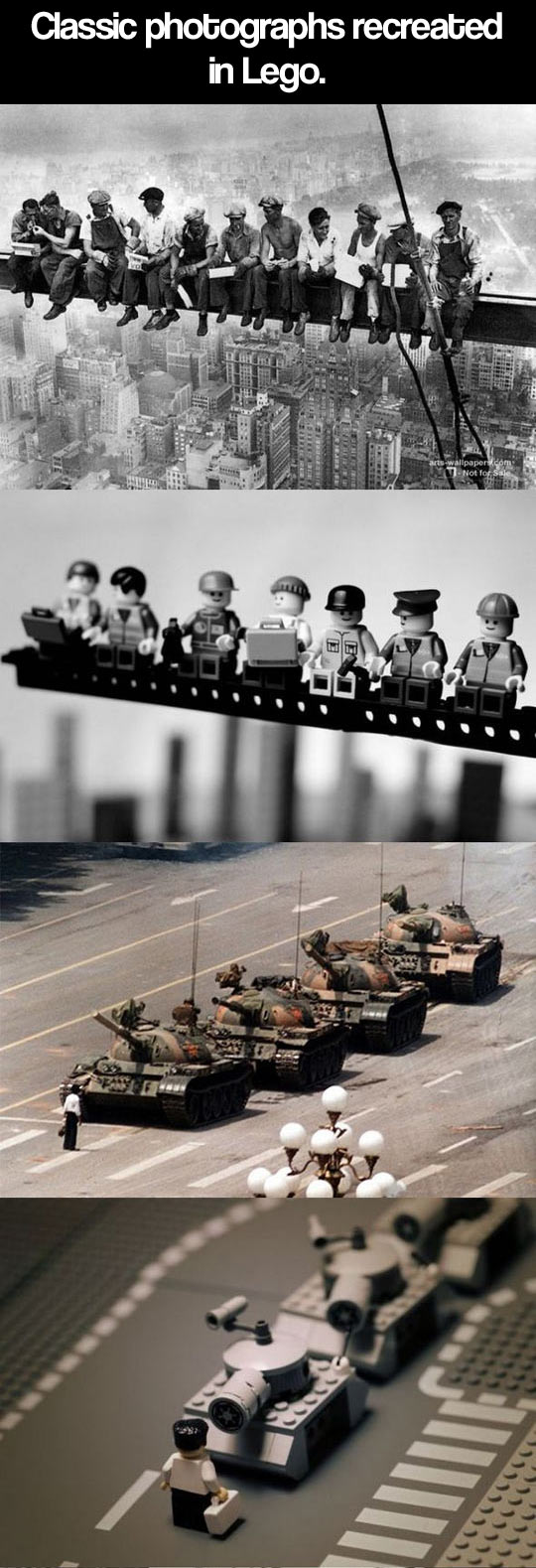 Historic photographs recreated in Lego...