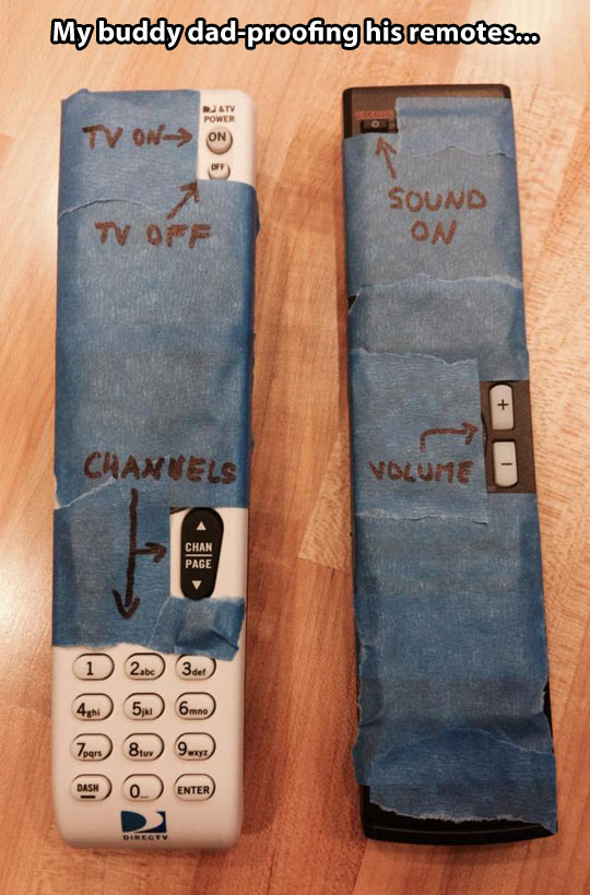 Dad-proofing the remote…