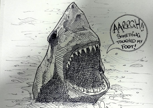 funny-shark-drawing-shout