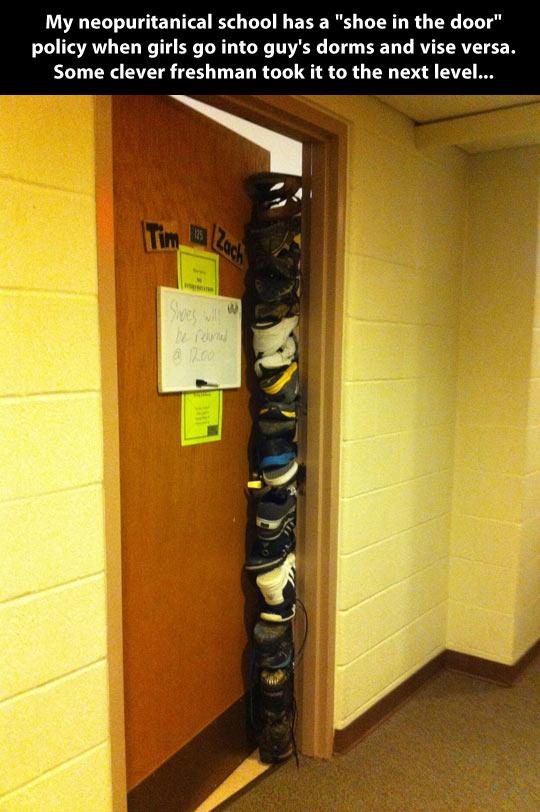 A shoe in the door you say?