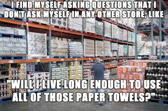 When I shop at Costco…