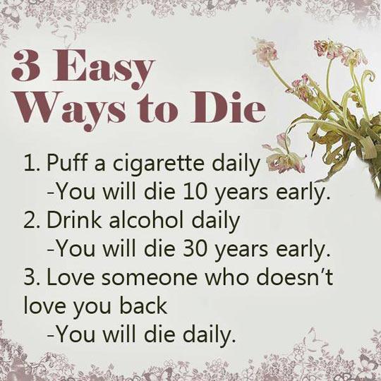 Easiest ways to die…