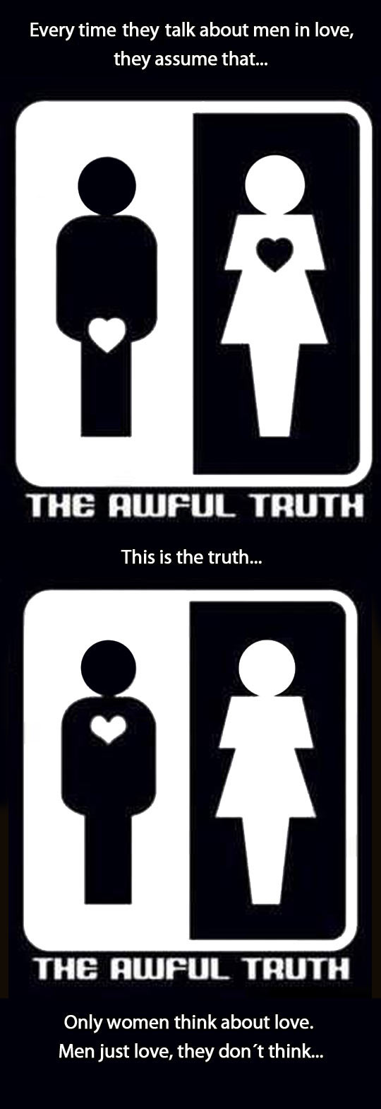 The truth about love…