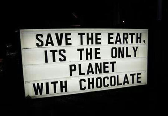 funny-sign-save-earth-planet-chocolate