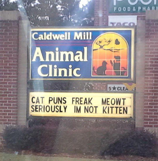 My local vet's street sign…