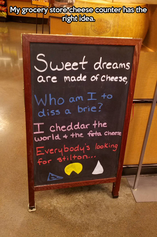 The proper way to sell cheese…