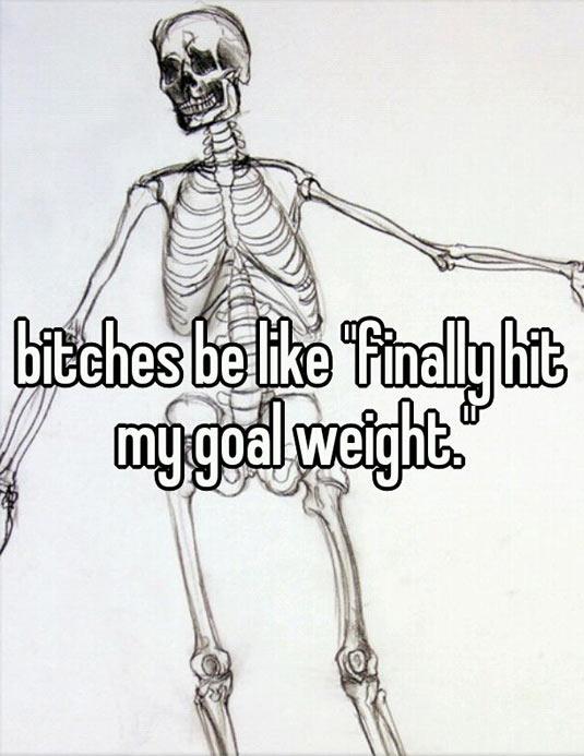 Goal weight…