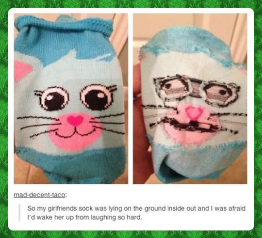 Inside out sock…