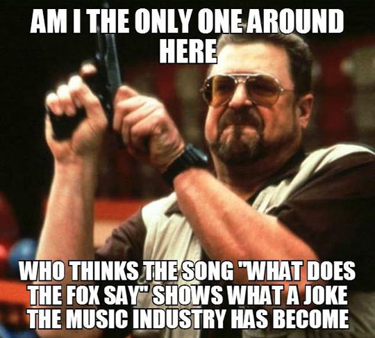 The music industry these days…