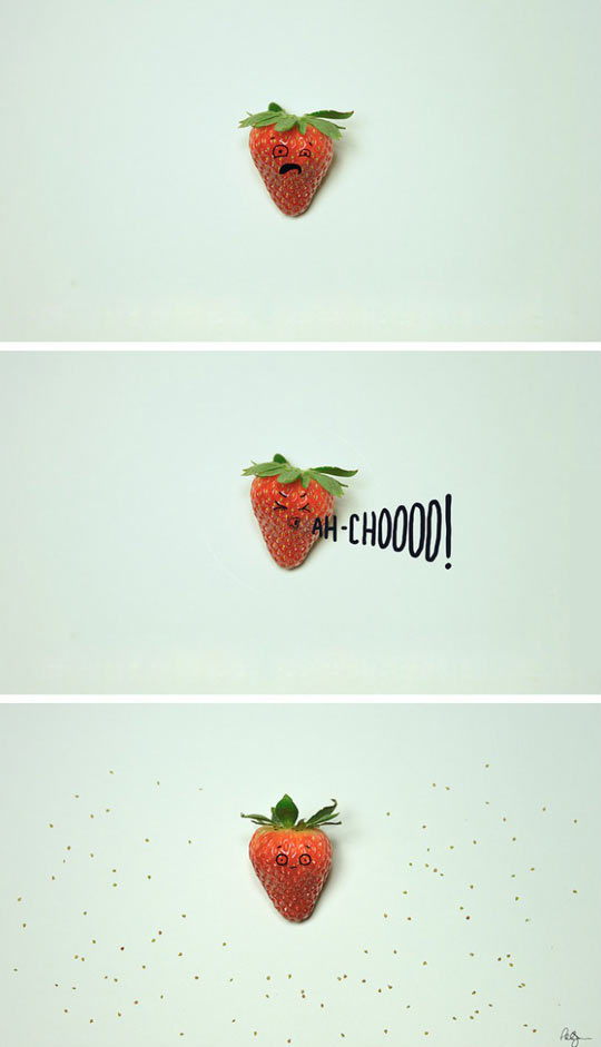 Strawberry sneeze…