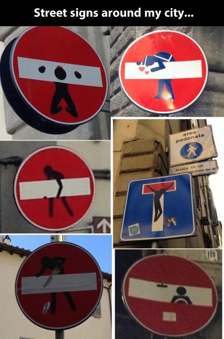 Creative street signs…