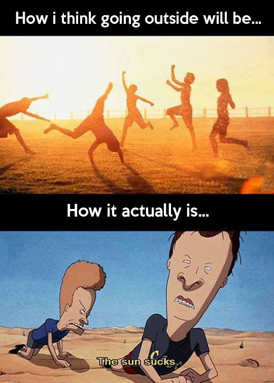 funny-sun-desert-Beavis-Butt-head-playing