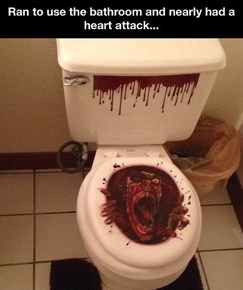 Scary Toilet Seat Cover
