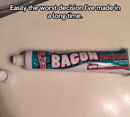 It makes your breath bacon fresh…