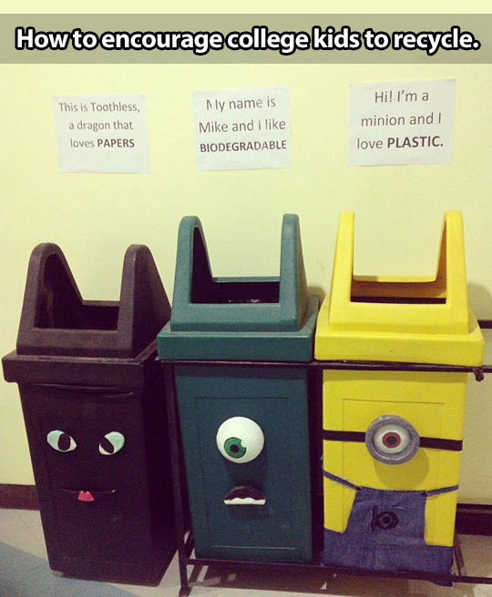 Encouraging kids to recycle…