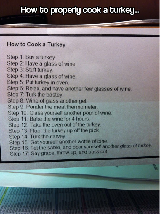 Cooking a turkey…