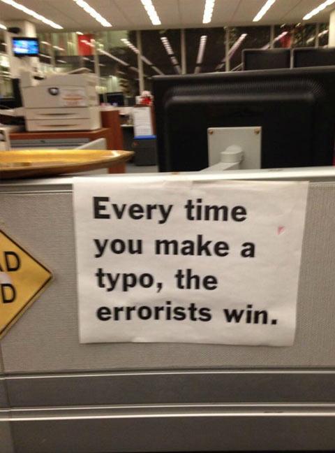Improve your grammar…