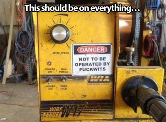 Useful warning message..