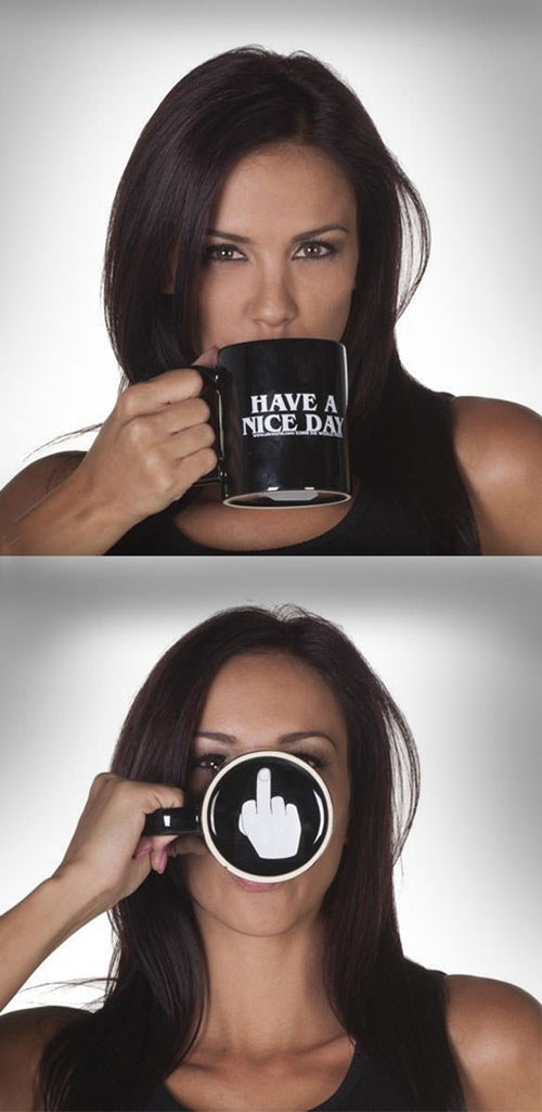 Don't bother me while I drink my coffee…
