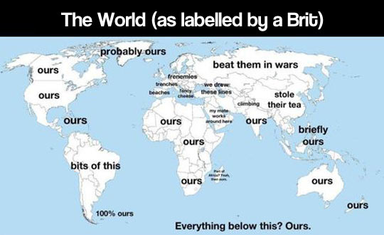 The world according to England…