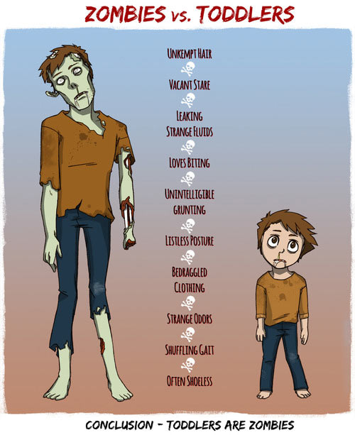Zombies vs. toddlers…