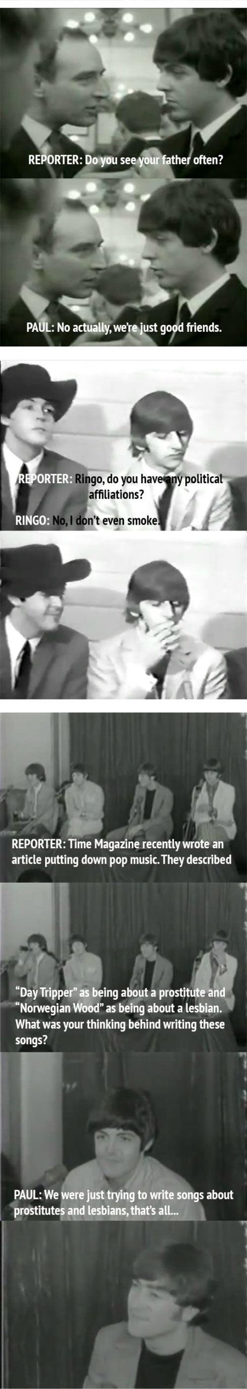 funny-Beatles-reporter-John-perfect-girl
