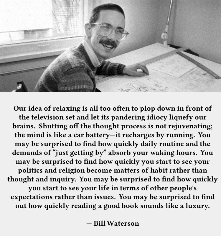 Bill Watterson On Reading