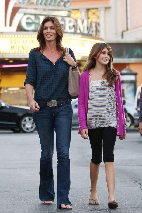 Cindy Crawford and Kaia Jordan