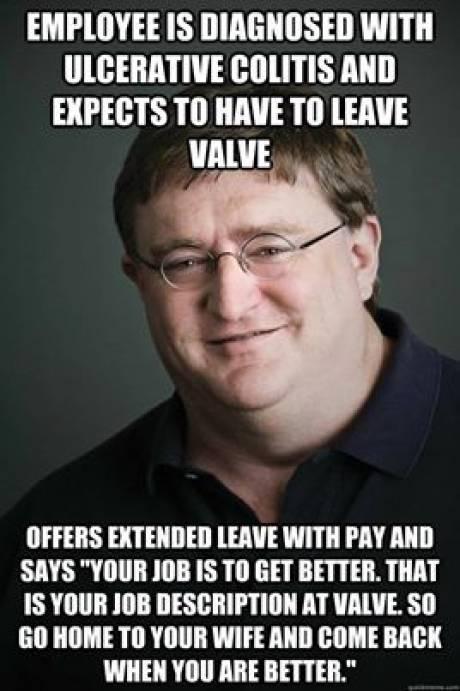 Good guy Gabe Newell