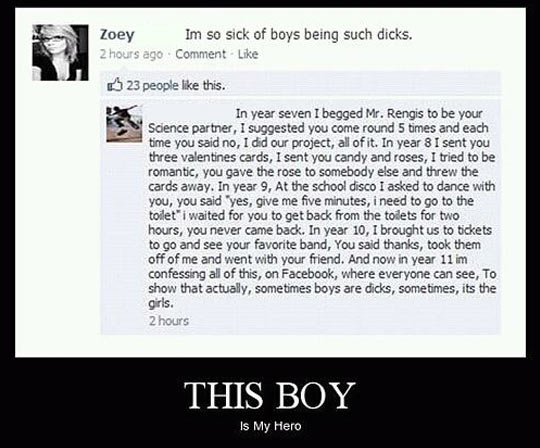 He's a hero